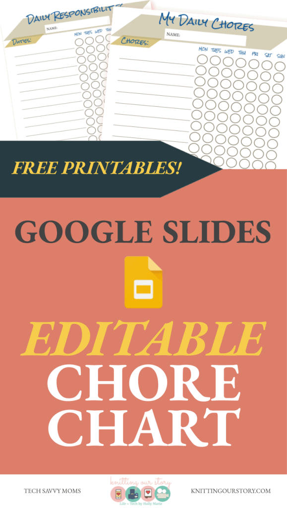 FREE CHORE CHART_Editable Google Slides Chore and Responsibility Chart for children
