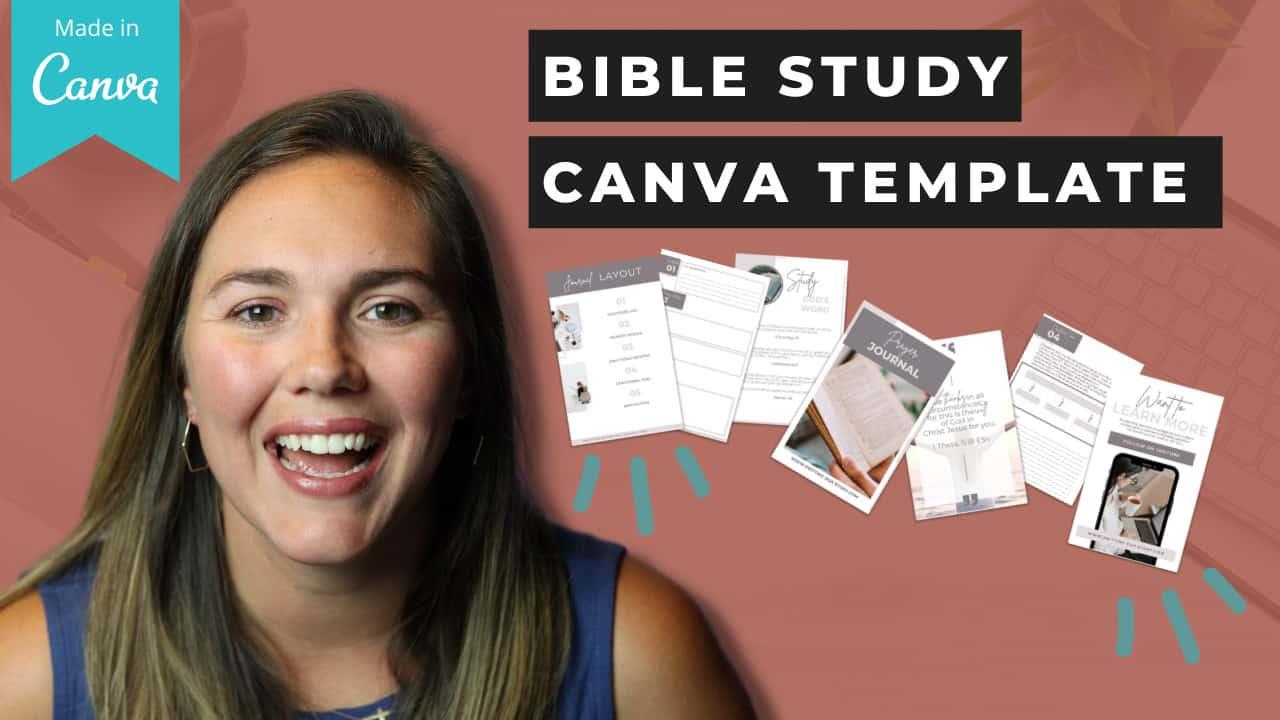 canva bible study templates free pdf free template